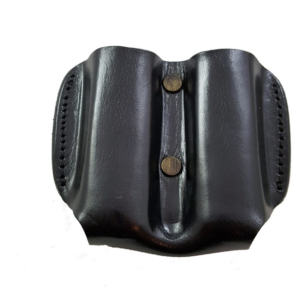 Picture of ARMADILLO HOLSTERS BLACK DOUBLE MAG POUCH FOR SINGLE STACK MAGAZINES