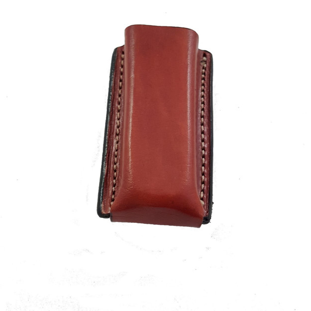 Picture of ARMADILLO HOLSTERS TAN LEATHER SINGLE MAG POUCH WITH BELT CLIP FOR SINGLE STACK MAGAZINES