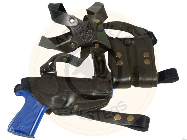 Picture of BLACK LEATHER HORIZONTAL SHOULDER HOLSTER FOR BERETTA