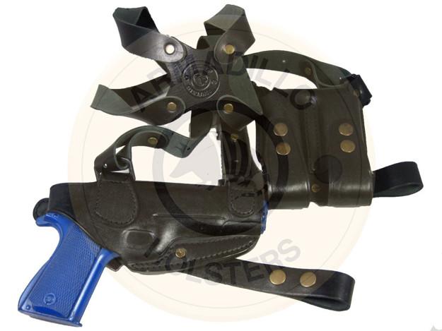 Picture of LEFT HAND BLACK LEATHER HORIZONTAL SHOULDER HOLSTER FOR SIG SAUER