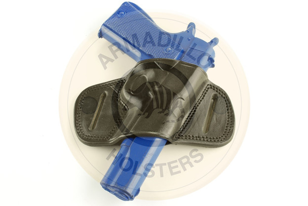 Picture of BLACK LEATHER MINI SPEED BELT HOLSTER FOR GLOCK