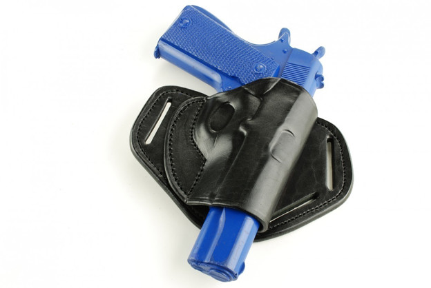 Picture of MULTI ANGLE BLACK LEATHER BUTTERFLY HOLSTER FOR 1911