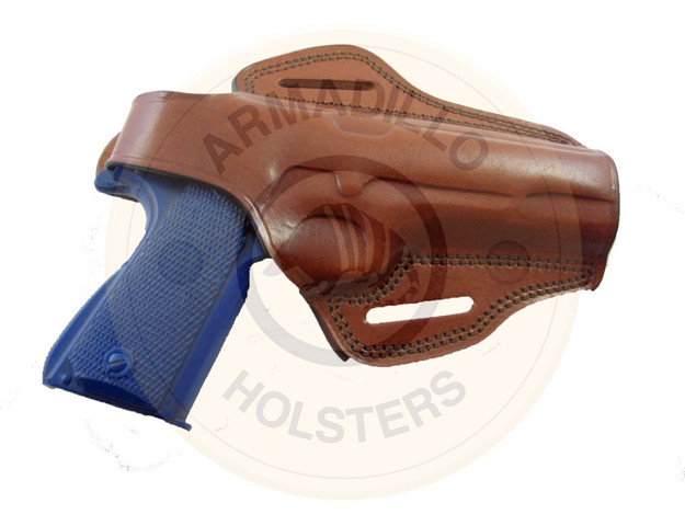 Picture of TAN LEATHER BUTTERFLY HOLSTER W/SNAP FOR GLOCK