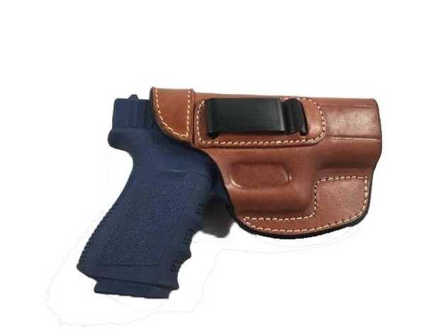 Picture of ARMADILLO HOLSTERS TAN BELT HOLSTER WITH CLIP FOR GLOCK