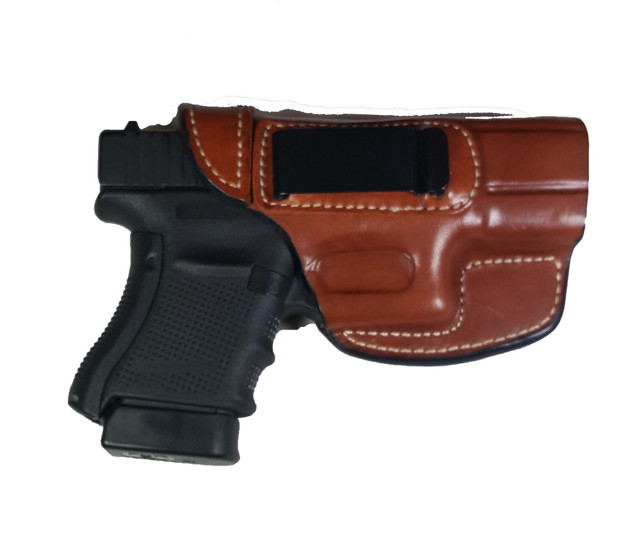 Picture of ARMADILLO HOLSTERS TAN BELT HOLSTER WITH CLIP FOR GLOCK 30