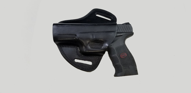 Picture of LEFT HAND BLACK LEATHER BUTTERFLY HOLSTER FOR SAR9