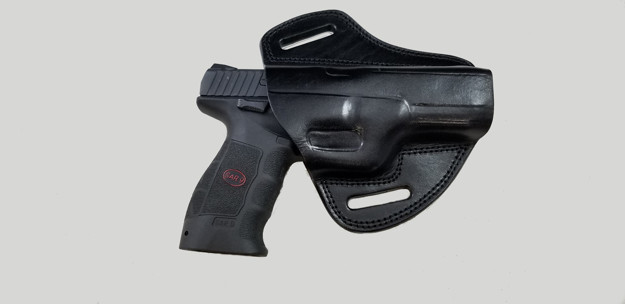 Picture of BLACK LEATHER BUTTERFLY HOLSTER FOR SAR9
