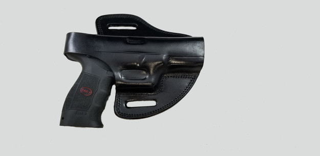 Picture of BLACK LEATHER BUTTERFLY HOLSTER W/SNAP FOR SAR9