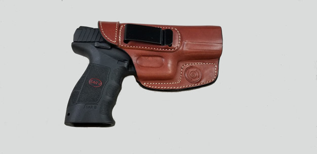 Picture of ARMADILLO HOLSTERS TAN BELT HOLSTER WITH CLIP FOR SAR9