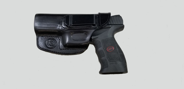 Picture of LEFT HAND ARMADILLO HOLSTERS BLACK BELT HOLSTER WITH CLIP FOR SAR9