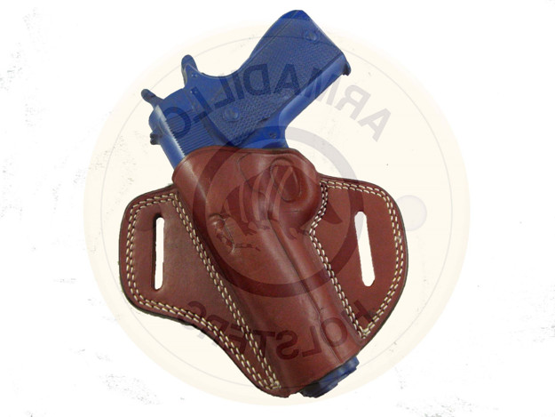 Picture of LEFT HAND TAN LEATHER BUTTERFLY HOLSTER FOR GLOCK 43 42