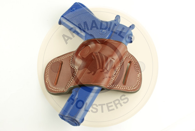 Picture of TAN LEATHER MINI SPEED BELT HOLSTER FOR S&W MP